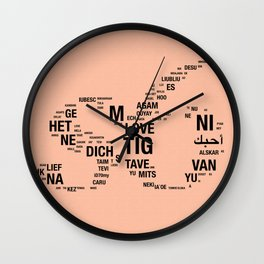 All languages ​​of the world Wall Clock