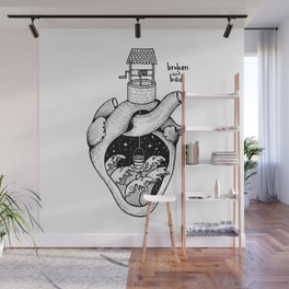 People's hearts are like deep wells Wall Mural