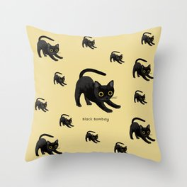 Black Bombay Throw Pillow