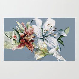 Hummingbird with Flowers Rug
