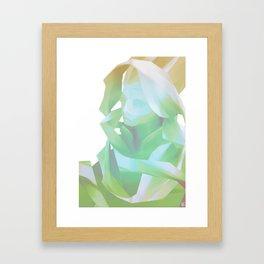 Glitch Portrait Framed Art Print
