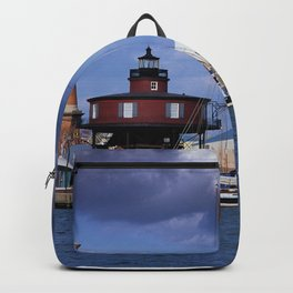 Seven Foot Knoll Lighthouse in Baltimore Harbor Backpack