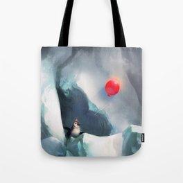 Heart Penguin Tote Bag