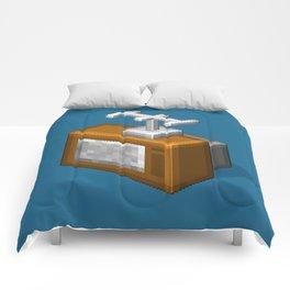 Retro TV television pixel art Comforters