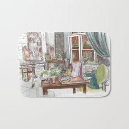 Will and Grace - Grace Adler Designs Studio Watercolor Painting Bath Mat