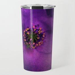 Vintage poppy violet Travel Mug