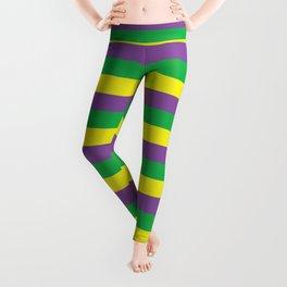 Mardi Gras Stripes Leggings