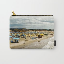 Versilia Italy Beach Ocean Coast View Vertical Carry-All Pouch