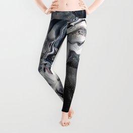 Marble B/W/G Leggings