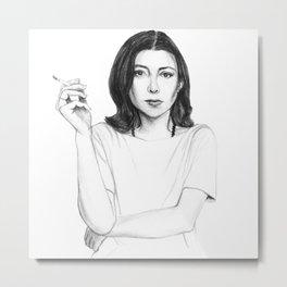 Joan Didion Metal Print