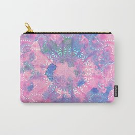 Pink Blue Mandala Watercolor floral Pattern Carry-All Pouch