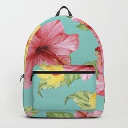 Tropical Hawaiian Hibiscus Floral Print Backpack