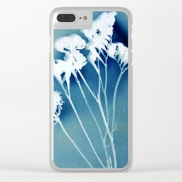 Blue Strawflower Clear iPhone Case