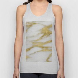 Bari golden marble Unisex Tank Top