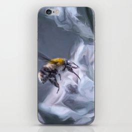 bumblebee mixed media artwork iPhone Skin