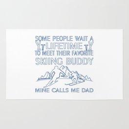 My Favorite Skiing Buddy Rug