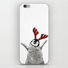 Christmas Baby Penguin Reindeer iPhone Skin