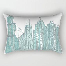 Chicago Architecture Rectangular Pillow