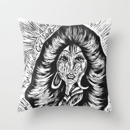 Smile Now Cry Later BW Throw Pillow