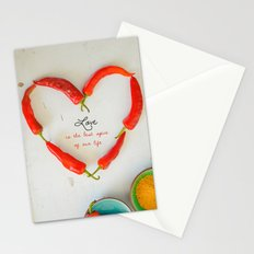 Love is the best spice Stationery Cards