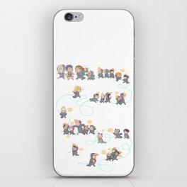 Baby crows iPhone Skin
