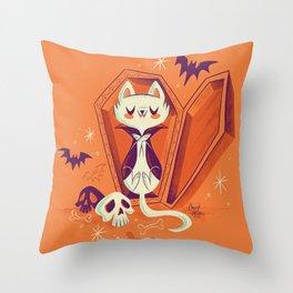 Vampire Kitty Throw Pillow