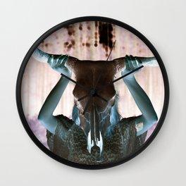 Gypsy Steer Clear Wall Clock