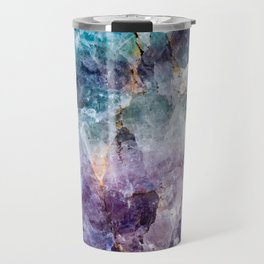 Turquoise & Purple Quartz Crystal Travel Mug