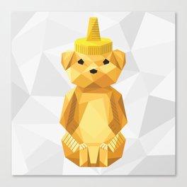 Honey Bear - Geometric Canvas Print