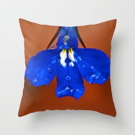 Single Lobelia Petal  Throw Pillow