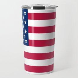 Flag of USA - American flag, flag of america, america, the stars and stripes,us, united states Travel Mug