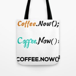 3 coffee.now() stickers coffee now for developers Tote Bag