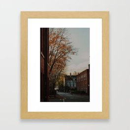 Streets of Manchester Framed Art Print