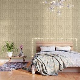 Fresh Minty Flowers Yellow Cream And Green Design Wallpaper