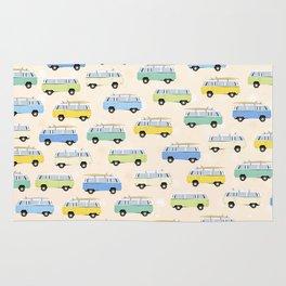 Summer surf bus pattern Rug