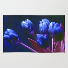 DARK BLUE TULIPS Rug