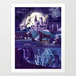 Never a Quiet Year at Hogwarts Art Print