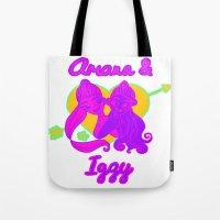 ariana grande Tote Bags featuring Ariana Grande Ft. Iggy Azalea #2 by Glopesfirestar