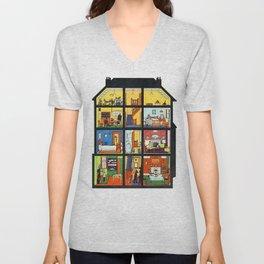 Vintage Doll House Unisex V-Neck