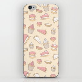 Pink Pastry Pattern iPhone Skin