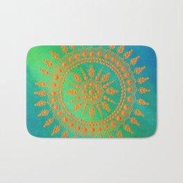 Golden Mandala Bath Mat