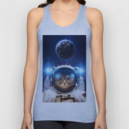 Beautiful cat in outer space Unisex Tank Top