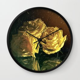 """""""La Rosa Amarilla"""" Wall Clock"""