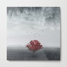 the RED tree ll Metal Print