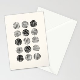 Abstract Line Work Circles Stationery Cards