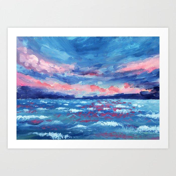 Sea Storm Oil Canvas Art Print