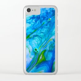 The Debbie / Ink + Water Clear iPhone Case