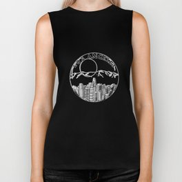 Los Angeles in a glass ball 2  ( https://society6.com/vickonskey/collection ) Biker Tank