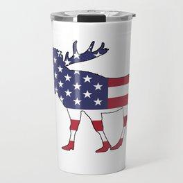 "Moose ""American Flag"" Travel Mug"