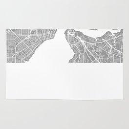 Jacksonville map grey Rug
